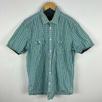Ben Sherman Mens Button Up Shirt XL Multicoloured Plaid Short Sleeve Collared