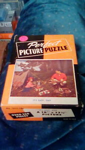 "antique rare 1940s Perfect Picture Puzzle It's Easy Dad 10"" x 13 1/2"" (250+ pc)"