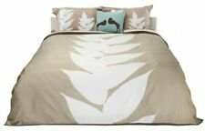DwellStudio King Duvet Cover Set Shams Leaf Tan Cream