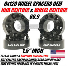 6x120 Wheel Spacers 1.5 Inch Hub Centric 4 Chevy Colorado GMC Canyon Acadia SRX
