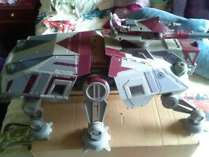 Star Wars Clone Wars AT-TE walker vehicle with electronic lights and sounds
