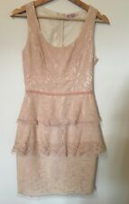 REVIEW SZ 8 Stunning Light Pink Lace Evening Dress As New .. Formal - Cocktail