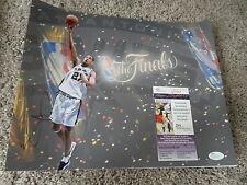 """TIM DUNCAN 11X14 SIGNED PHOTO SPURS """"NBA FINALS"""" AUTO AUTOGRAPH SIGNATURE JSA"""