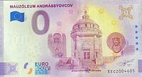 BILLET 0  EURO MAUZOLEUM ANDRASSYOVCOV SLOVAQUIE   2020 NUMERO DIVERS