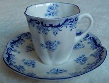 Shelley china England~Heavenly Blue demitasse cup & saucer-Dainty shape-NR
