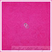 BonEful Fabric FQ Cotton Quilt Pink Fuchsia Swirl Dot Large Retro Flower Tonal L