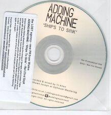 (EG88) Adding Machine, Ships to Sink - 2013 DJ CD