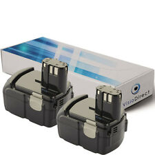 Lot de 2 batteries type EBL1430 pour Hitachi 2000mAh 14.4V - Société Française -