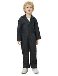 Kid's Coverall for Boys Mechanic Halloween Suit Costume Toddler Flightsuit