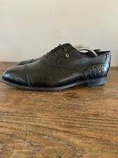 Footjoy Classics Dry Men's Golf Shoes Size 12 D Black Leather Cap Toe Weave VTG