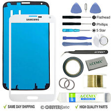 Samsung Galaxy S5 White Replacement Screen Front Glass Lens Repair Kit 2mm Tape