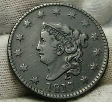 1817 Penny Coronet Large Cent - Very Nice Coin, Free Shipping (9230)