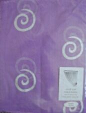 """Modern Delicate LILAC Slot Top Voile With SILVER Swirl. 59"""" X  90"""" Long. NEW!"""