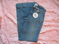 NEW BCBGeneration MEDIUM BLUE DENIM JEANS SUPER WIDE FLARE LEGS SIZE 26 NWT