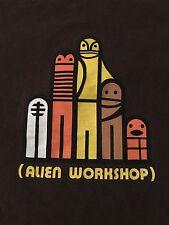 Vintage 1990's Men's Alien Workshop Short Sleeve Brown T-Shirt Skater Large