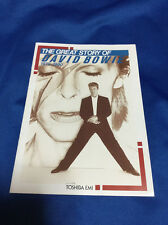 David Bowie The great story of David Bowie 1970-1990 promo book Toshiba EMI