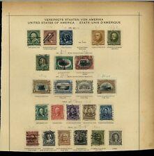USA 1898-1903 Album Page Of Stamps #V15363