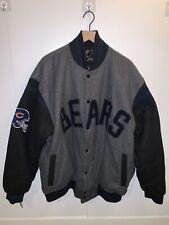 Rare Nfl Team Apparel Mens Xxl Chicago Bears Reversible Bomber Jacket Button Up