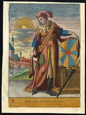 Antique Print-ARNULF II-COUNT-FLANDERS-COAT OF ARMS-Richer-1615