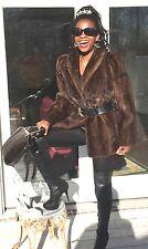Mint Designer Rosendorf Sable brown Mink Fur coat jacket bolero Stroller S-M 0-8