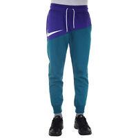 Nike Swoosh Pant Pantalone Uomo BV5297 547 Court Purple Geode Teal White