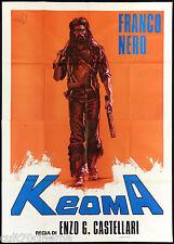 KEOMA MANIFESTO CINEMA FILM WESTERN FRANCO NERO CASTELLARI 1976 MOVIE POSTER 4F