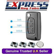 Citroen 3 Button Light Remote Flip Key Fob Case Repair Kit Fits C4 C6 Picasso