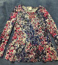 Gymboree multi-color peplum,long sleeve top, girls size 7, sequin embellishments