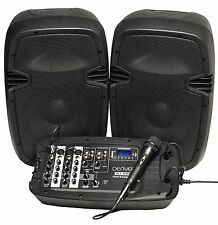 Denver dj-200 Portable Bluetooth DJ Mixer with Speaker and Microphone Box