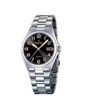 50 m (5 ATM) Armbanduhren aus Edelstahl mit Datumsanzeige für Herren