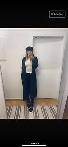 Zara Mantel Knit Strick Oversize XS s 34 36 Grau Jacke Cardigan