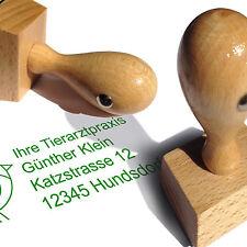 Holzstempel Adressstempel Textstempel Logostempel