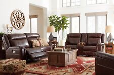Ashley Furniture Wyline Leather Reclining Sofa And Loveseat