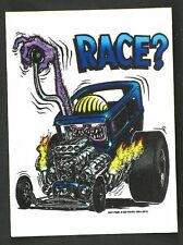 Race? STICKER Decal Ed Big Daddy Roth Rat Fink RF14A
