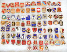 LOT of 88 Military Insignia DUI pins/Crest