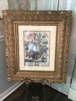 "Antique Vintage Extra Large Hand-Carved Wood Gesso Ornate Picture Frame 30""x26"""