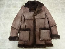 EXCELLENT COND FEW TIMES USE VINTAGE SHEEPSKIN SHEARLING SCHOTT JACKET MEN 42
