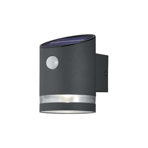 TRIO SALTA LED SOLAR WALL LIGHT (ANTHRACITE) with built in PIR IP44 Outdoor