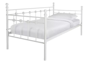 Home Abigail Single Metal Day Bed Frame - White/7894+985