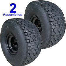 "TWO 22x10.00-8 Mower Garden Tractor TIRE RIM WHEEL Assemblies Kenda K358 3/4"" ID"