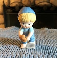 Enesco Country Cousins Figurine 1981 Scooter Baseball 1st Base  Free S & H