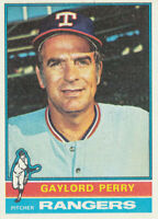 Gaylord Perry 1976 Topps #55 Texas Rangers baseball card