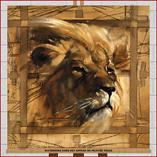 Lion Head - Large Box Canvas Print Picture Framed Wall Art 20x20 High Quality