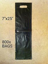 """800x NUMBER PLATE CARRIER BAGS 7""""x25"""""""