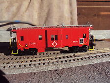 Athearn 'Custom' Ho Gauge 'Red' El Bw Caboose- Nice! Look!
