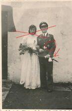 Nr. 26133 Hochzeit Foto 2 Wk Flieger Pilot  Orden Dolch tagger 6 x 8,5 cm 1944