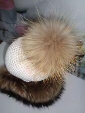 Pelzbommel echter Raccoon natur seidenweich NEU superflauschig XXL Bommel Luxus