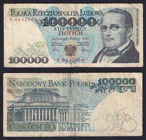 Pologne 100000 Zlotych 1990 BB / VF A-05