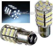 White LED #1157 12 Volt Tail Light Brake Stop Turn Signal Lamp Bulbs 54 SMD