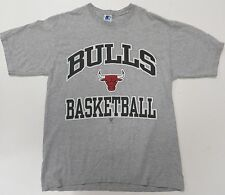 Vintage Starter Chicago Bulls 90s Gray Mens Medium T-Shirt Jordan Pippen USA